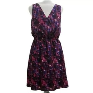 Ambar Mosaic Print Cross Front Dress D18
